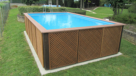 Dolcevita woody for Piscine hors sol laghetto
