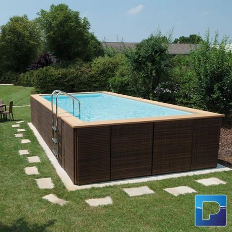 Dolcevitagold 3 x 5m hors sol pamatrex sa piscines for Piscine hors sol laghetto