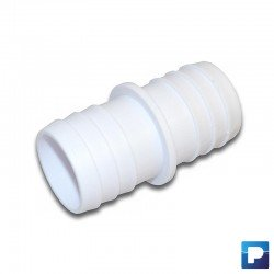 Raccord de tuyau Ø32 mm en plastique blanc